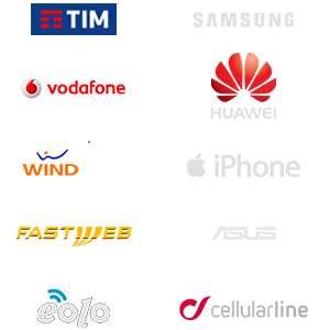TIM Vodafone Wind Tre 3 FastWeb Eolo Samsung Huawei iPhone Apple Asus Cellularline