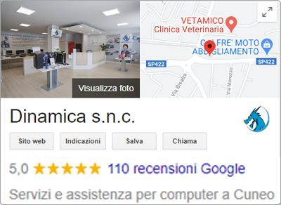 Dinamica Google Recensioni